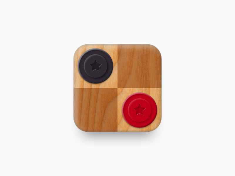 Checkers App Icon retina mobile android ios game illustration icon app checkers