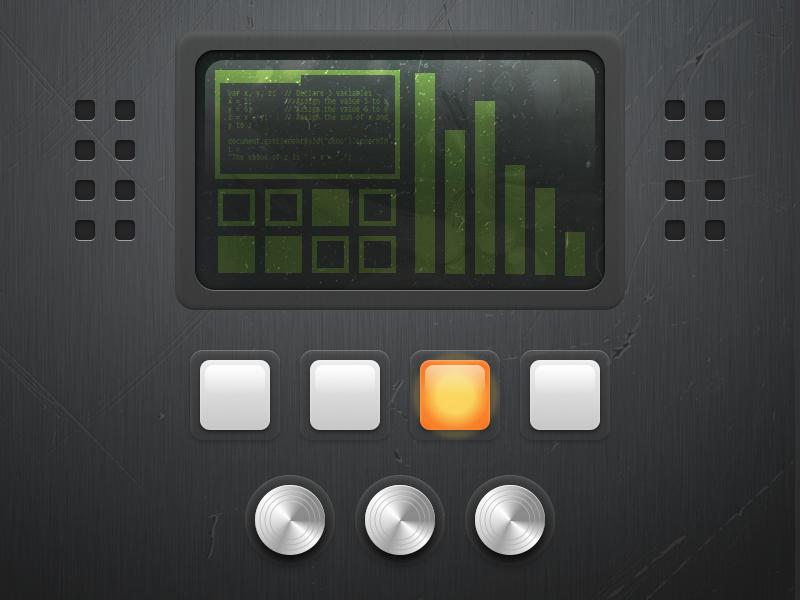 Hardware Controls design ux hardware texture sliders screen ui buttons controls