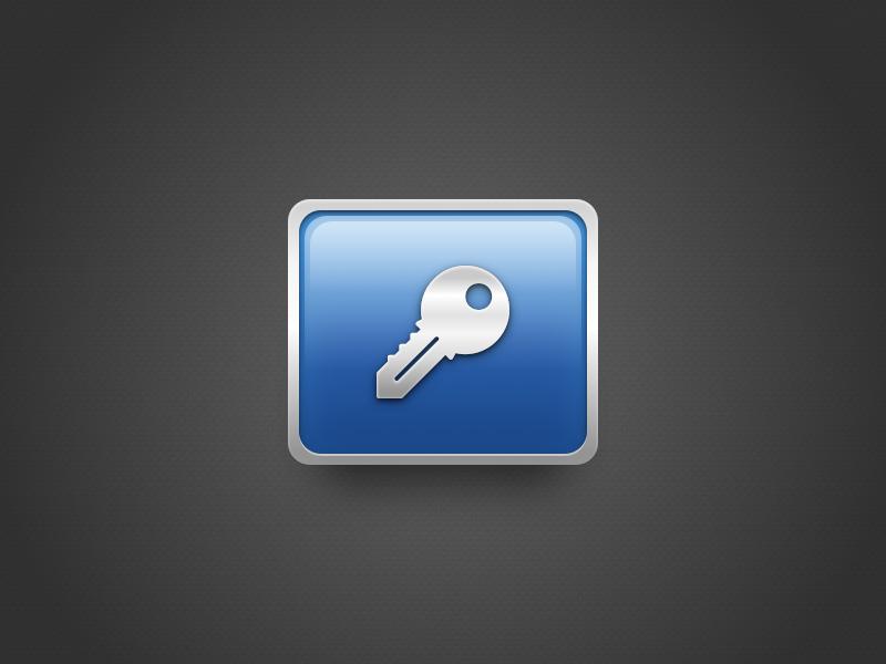 Security Icon metal key dock ios mac macos password security icon appicon