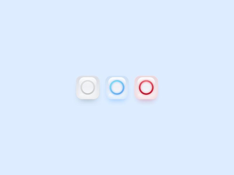 Status Rings ux ui active error loading status appicon glass ring icon app