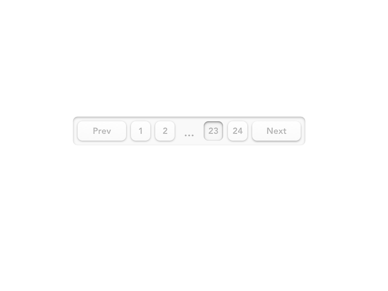 Pagination UI depth shadows button css navigation buttons ux ui pagination