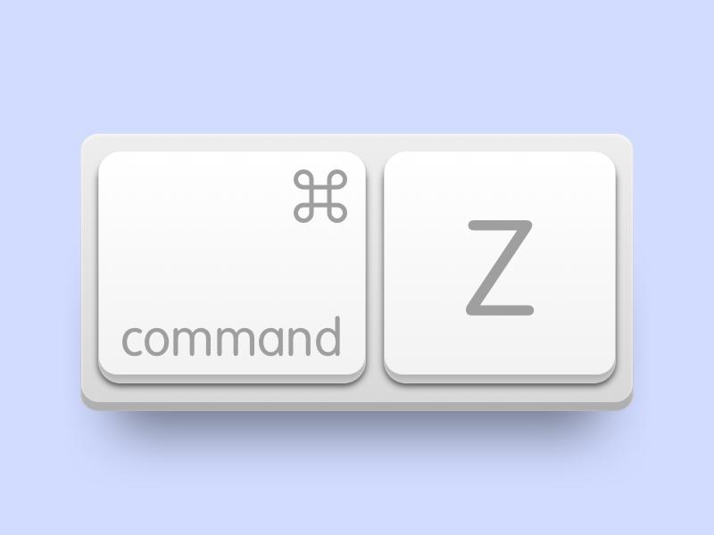 Undo Keyboard shadow ux ui ios apple command app icon keyboard