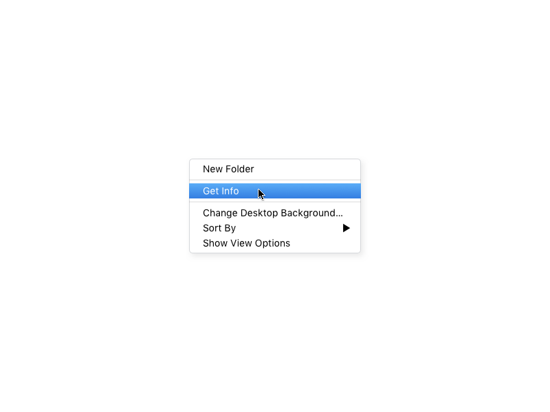 Good Ol' Right Click shadow gradient options settings cursor menu apple mac macos