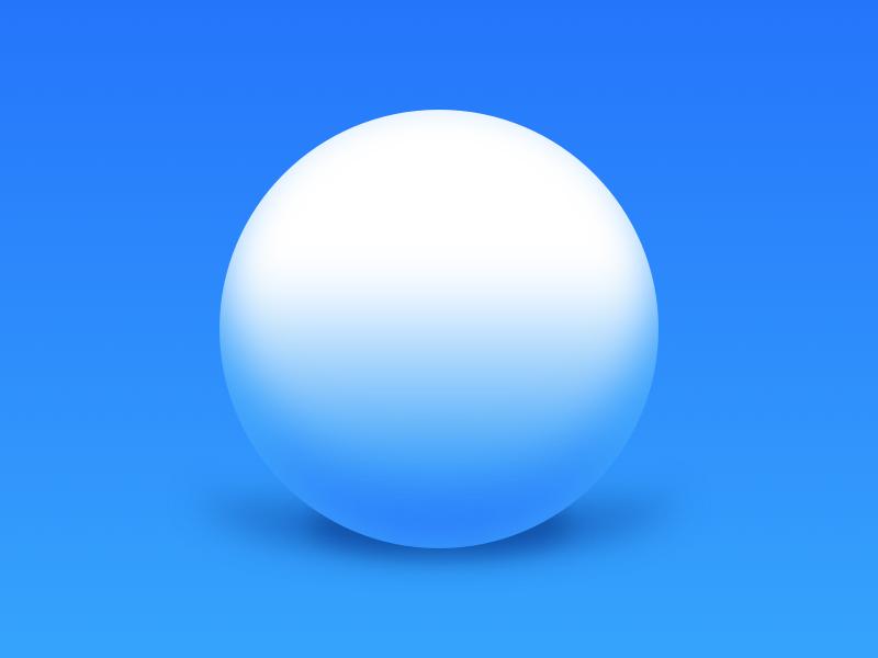 Ball Shadow orb gradient blue sphere 3d depth shadow ball