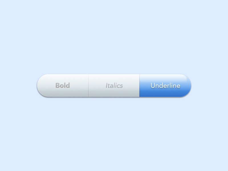 Font Style Toggle blue shadow gradient selected selection editor fonts font toggle