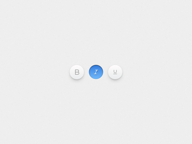 Font Style Toggles V2 italic bold underline text editor ui select toggle font
