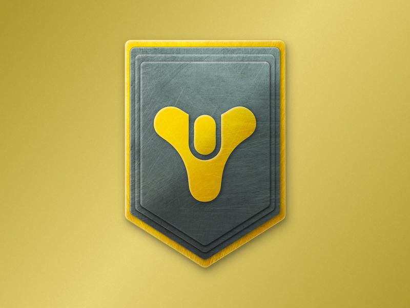 Destiny Crest gradient depth shadow emblem gold black metal crest destiny