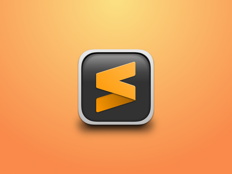 Sublime Text Replacement Icon gradient mac app icon replacement sublime text icon editor sublime
