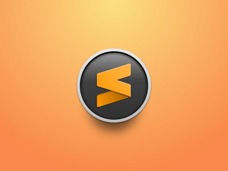 Sublime Text Icon (Circle) sublime circle gradient editor mac app icon icon sublime text