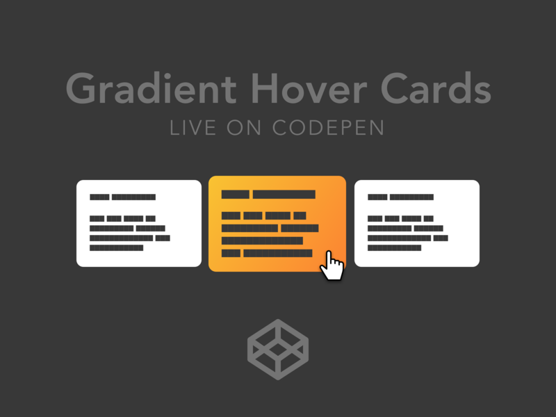 Gradient Hover Cards by Bradley Taunt on Dribbble