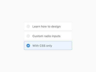Custom Radio Inputs