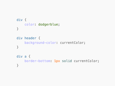 CSS value: currentColor