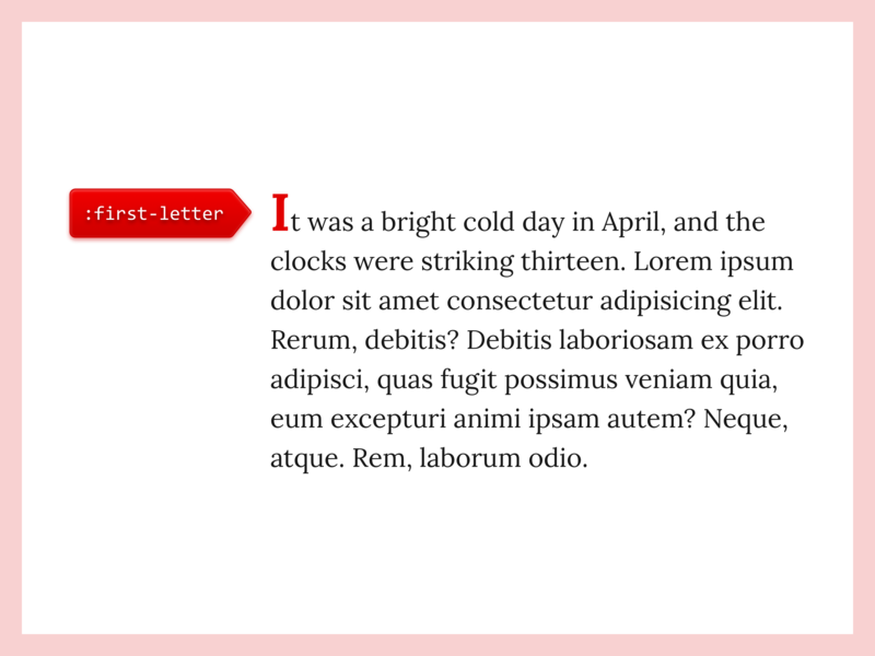 🎨 CSS: First Letter Pseudo Element