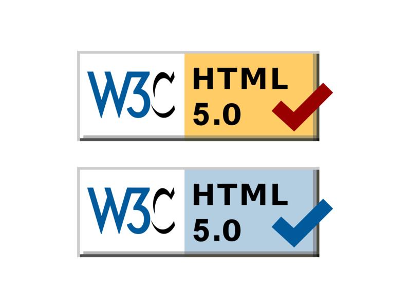 HTML5 Validator Badges
