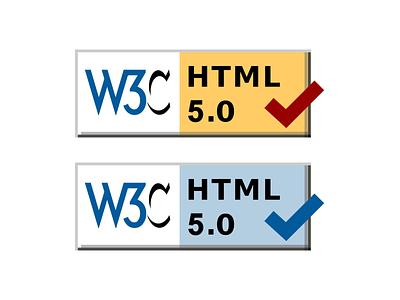 HTML5 Validator Badges github open source w3c css web development web design html5 html
