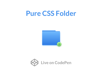 Pure CSS Folder shadow experiment codepen icon add gradient folder html css
