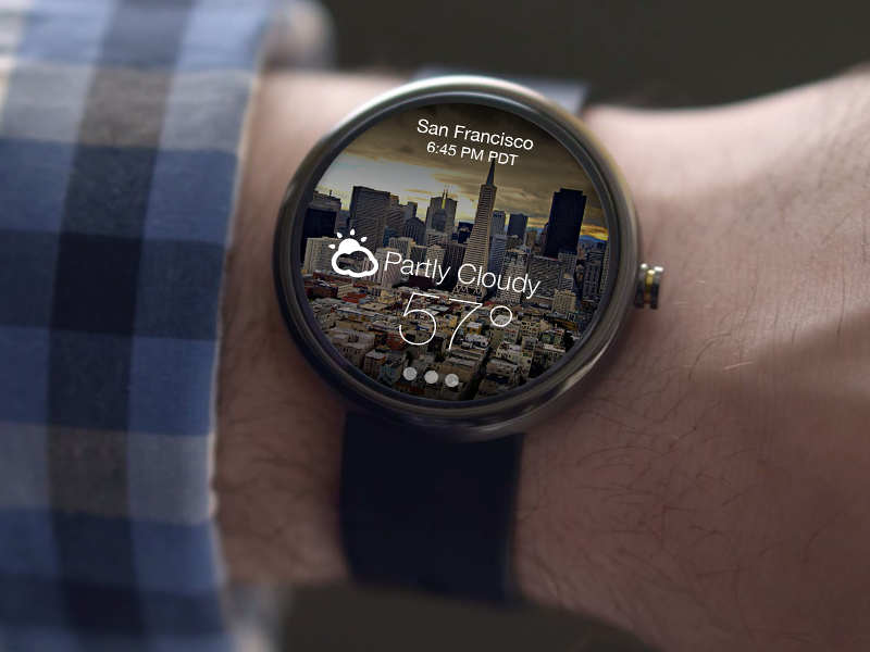 Android Wear Yahoo Weather App android weather watch wear smartwatch ui os clock wearable