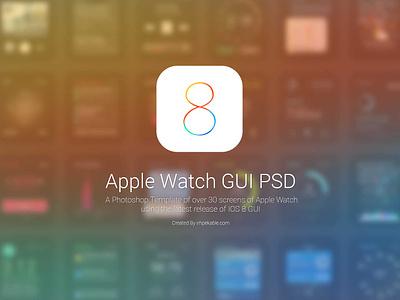 Apple Watch GUI PSD  psd resources freebies apple ios watch gui ios8 free template