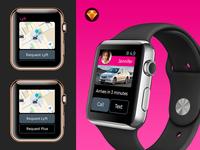 Lyft Apple Watch GUI Concept Free Sketch Download