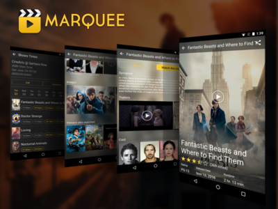Movie Detail & Showtimes Page for Movie Discovery Android App