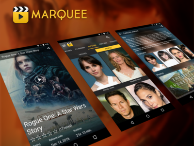 Movie and Actor Pages for Movie Discovery Android App