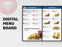 Digital Menu Board Design for Fastfood Drive Through
