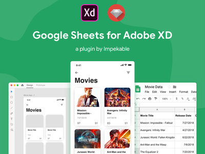 Google Sheets for Adobe XD Plugin desktop app uxd spreadsheet gsuite google desktop plugin adobexd madewithadobexd adobepartner