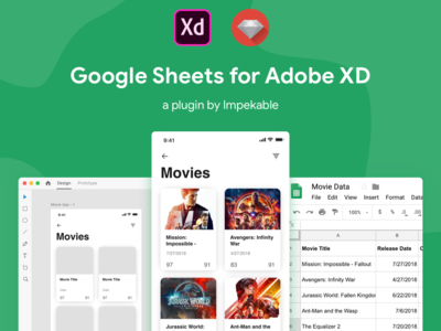 Google Sheets for Adobe XD Plugin