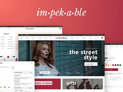 Retail E-Commerce Website Redesign re design design ux web magento ecommence retail