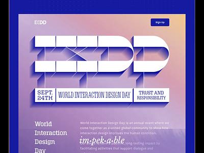 Adobe World Interaction Design Day 2019 Website web ux ui madewithadobexd ixdd xd adobe adobepartner
