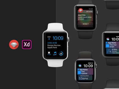 Apple watchOS Adobe XD UI Kit gif animation uikit adobexduikit applewatch watchos madewithxd adobexd apple adobepartner