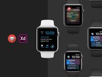 Apple watchOS Adobe XD UI Kit