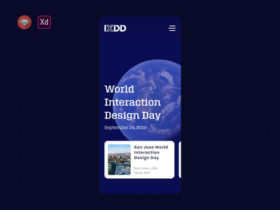 Adobe World Interaction Design Day 2019 Animation 3d animation adobepartner madewithadobexd adobe mobile interaction design ixdd gif mp4 animation uiux