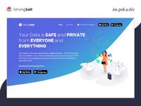 StrongSalt Mobile Responsive Website encryption development animation crypto blockchain technology uxui mobile responsive website decentralized blockchain