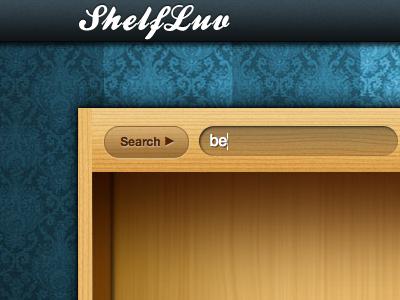 New ShelfLuv Header header blue wood dark ui app pek button