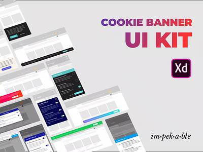 Disclaimer Cookie Banner UI Kit for Adobe XD freebie cookies mobile web madewithadobexd animation adobepartner adobexd free uikit