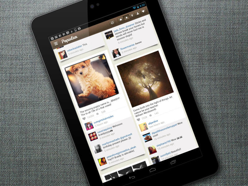 Pictacular - Instagram Viewer for Android - Portrait Mode by