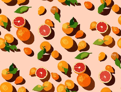 Summer orange pattern