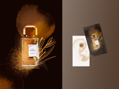 "Illustration of the smell of French perfume ""Oud Abramad"""