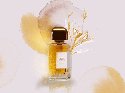 "Illustration of the smell of French perfume ""Wood Jasmin"""