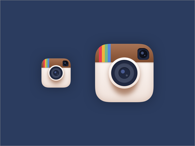Flatish Instagram Icon redesign instagram flatish flat remake