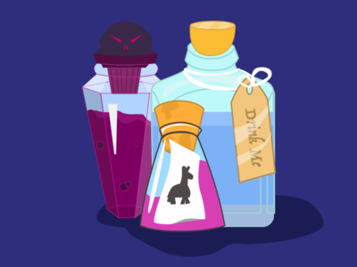 Vectober Day 15 - (Legend)ary Potions