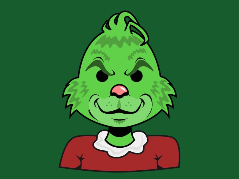Holiday Illustration - The Grinch daily art sketch illustration vectober vector flatillustration whoville christmas illustratuion christmas grinch thegrinch