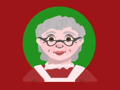 Holiday Illustration - Mrs Claus