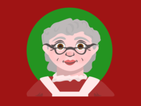Holiday Illustration - Mrs Claus