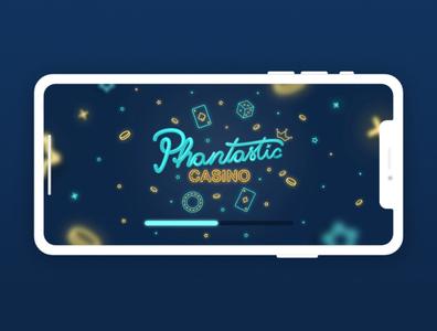 Phantastic Casino - Mobile App Design - #1 - Loading Screen loading bar loading screen user experience mobile design mobile ui interface graphic design design mobile app ux design ui design app casino games casino design casino
