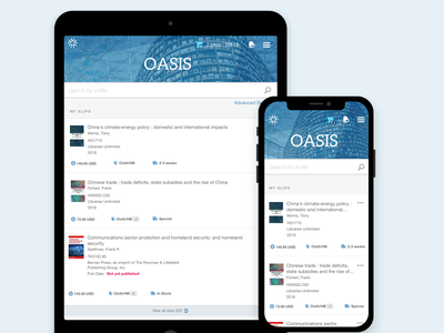 OASIS Selector Experience e-commerce ui design ui ux design ux