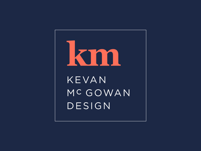 Kevan McGowan Design Logo gotham typography branding personal brand logo