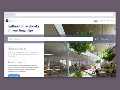 Ebook Central Rebranding Concept elegant product design ux design enterprise ux ebooks ui design