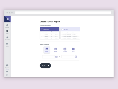 Detail Report Landing Page